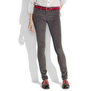 Madewell Gray Rail Straight Corduroy Pants